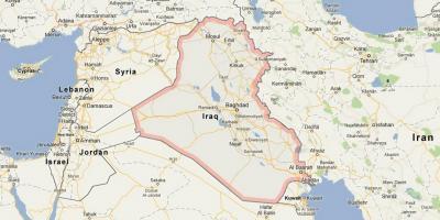 Irak Kort Kort Irak Det Vestlige Asien Asien